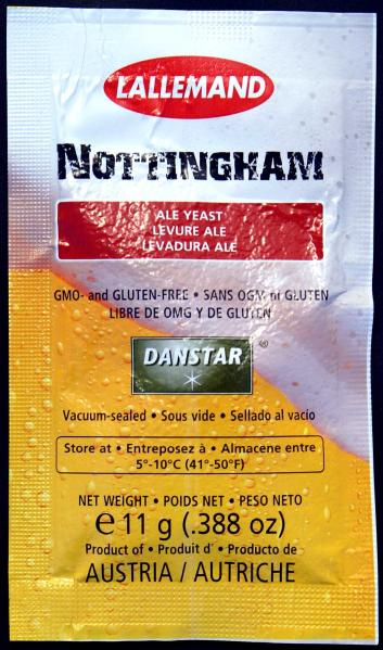 Nottingham Ale Yeast - 11 grams